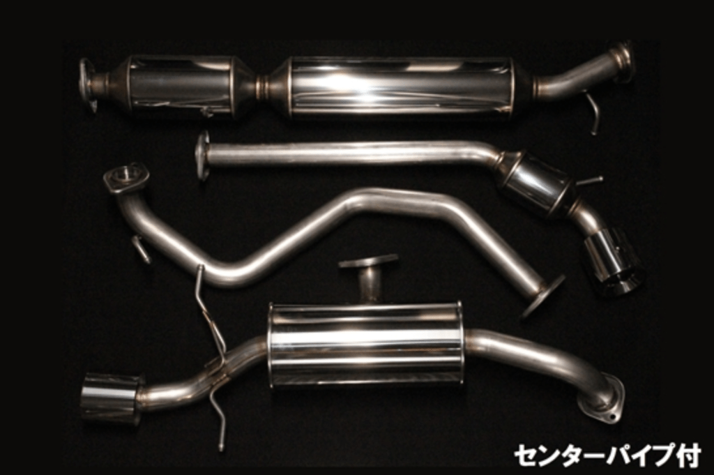 Rear Muffler & Center Pipe - Pieces: 4 - Pipe Size: 54mm - Tail Size: 2x 100mm - EM-33S01