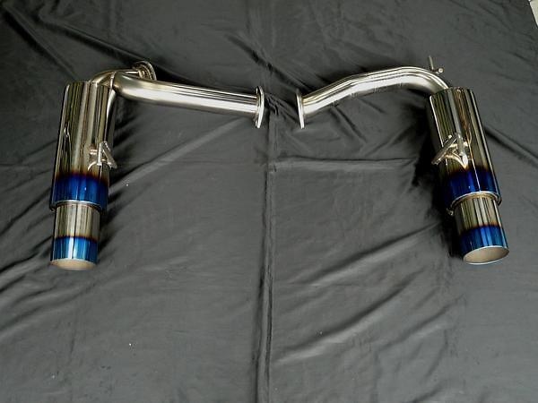 Rear Mufflers Only - Pipe Size: 60mm - Tail Size: 2x100mm - SUS-TTLR-Z33