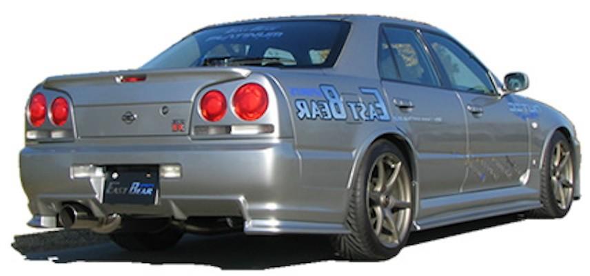 Rear Bumper Under Spoilers - Material: FRP - Colour: Unpainted - R34-RBUS-4DR
