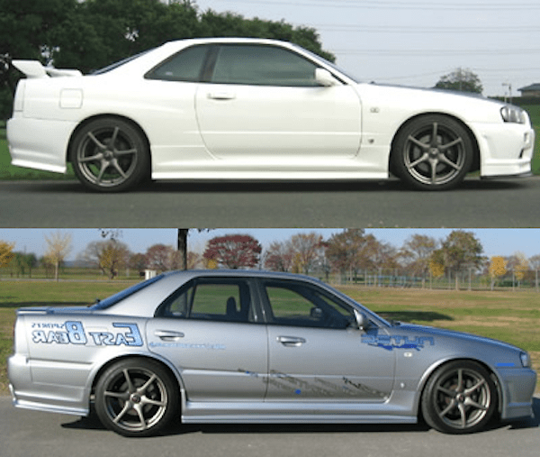 Side Step Under Spoilers - Material: FRP - Colour: Unpainted - R34-SSUS-4DR