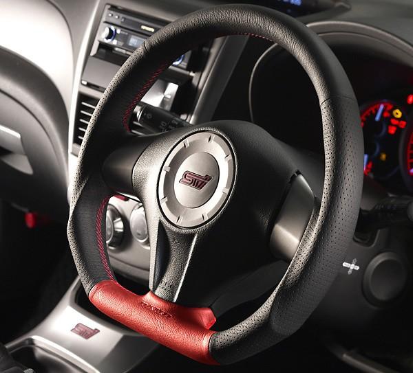 Type: D-Shape - Color: Formula - Black/Red - Diameter: 358mm - Stitch: Red - SS358-D(L)