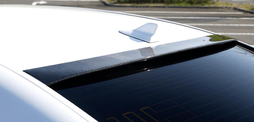 Carbon Rear Roof Spoiler - Construction: Carbon - Colour: Unpainted - AS-VHSL-LS-CRRS