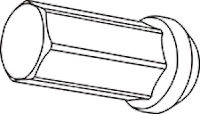 Replacement Closed End Type Nut - Colour: Black - Thread: M12xP1.5 - Length: 50mm - Quantity: 1 - Z711250