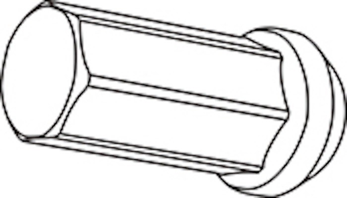 Replacement Closed End Type Nut - Colour: Black - Thread: M12xP1.25 - Length: 42mm - Quantity: 1 - Z713242