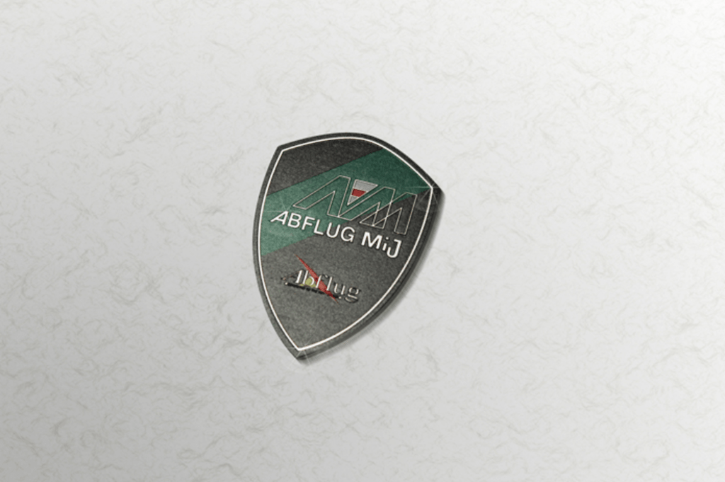 Colour: Green, Black & Silver (SUS) - Size: W50mm H70mm - Mij Crest Emblem
