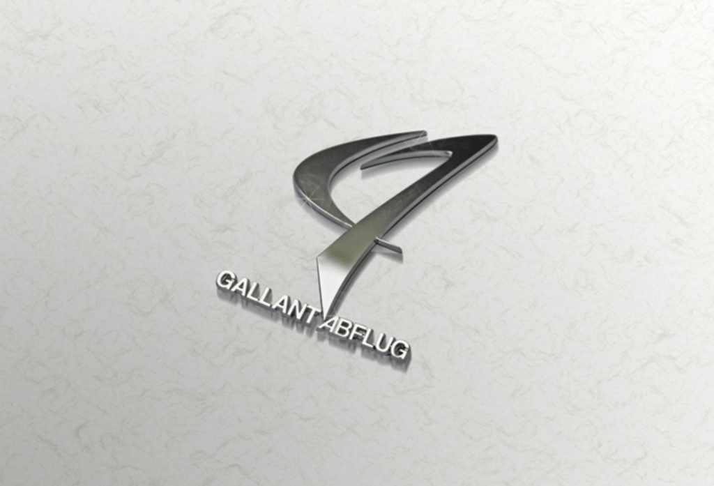 Colour: Silver - Size: W57mm H80mm - GALLANT ABFLUG Emblem ver.02