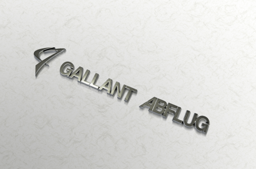 Colour: Silver - Size: W180mm H38mm - GALLANT ABFLUG Emblem ver.03