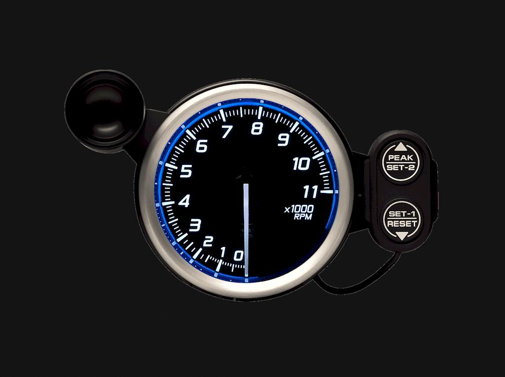 Type: Tachometer - Color: Blue - Diameter: 80mm - Range: 0 to 11000 RPM - DF17301