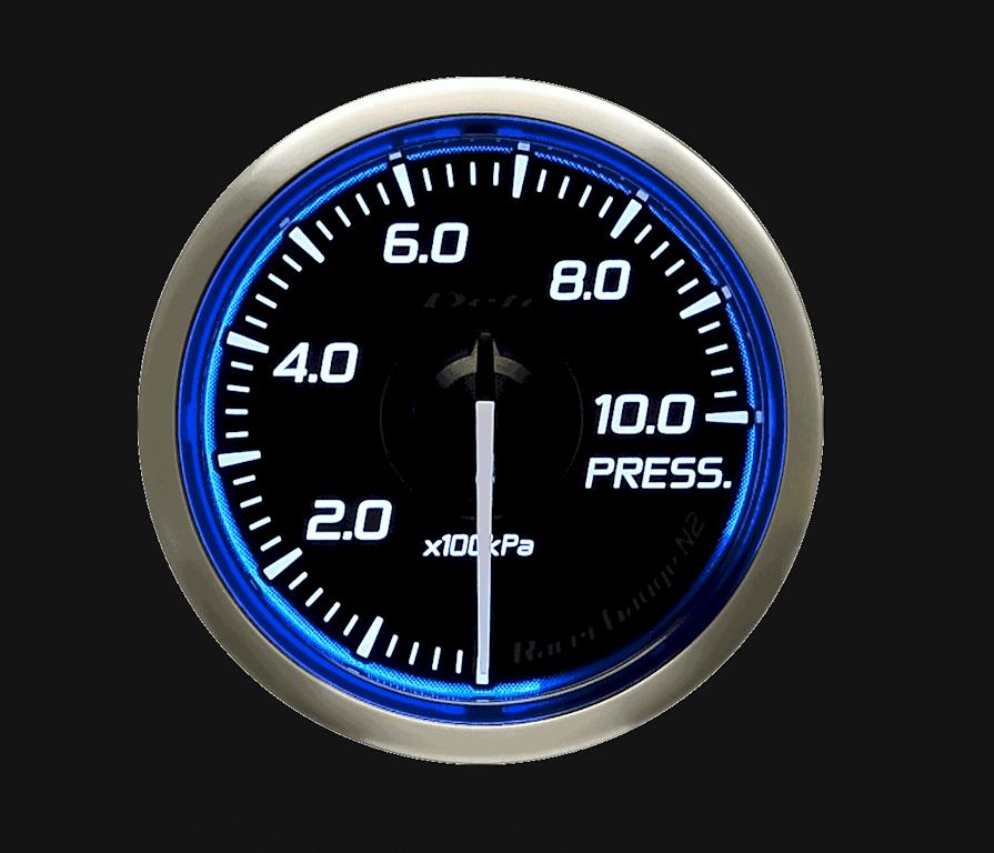 Type: Pressure - Color: Blue - Diameter: 52mm - Range: 0 to 1000kPa - DF16201