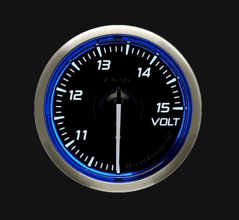 Type: Voltage - Color: Blue - Diameter: 52mm - Range: 10 to 15V - DF16501