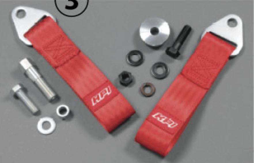 Colour: Red - Length: 10cm - Strength: 3000kg - HPCG-TBK13KAI