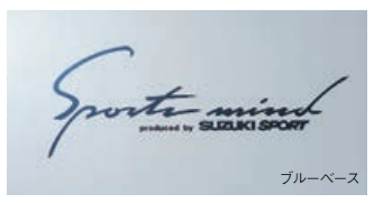 Sticker (Sports Mind) - 100mm x 225mm - Category: Exterior - Colour: Multicolor Metallic (blue base) - 99000-99036-A16