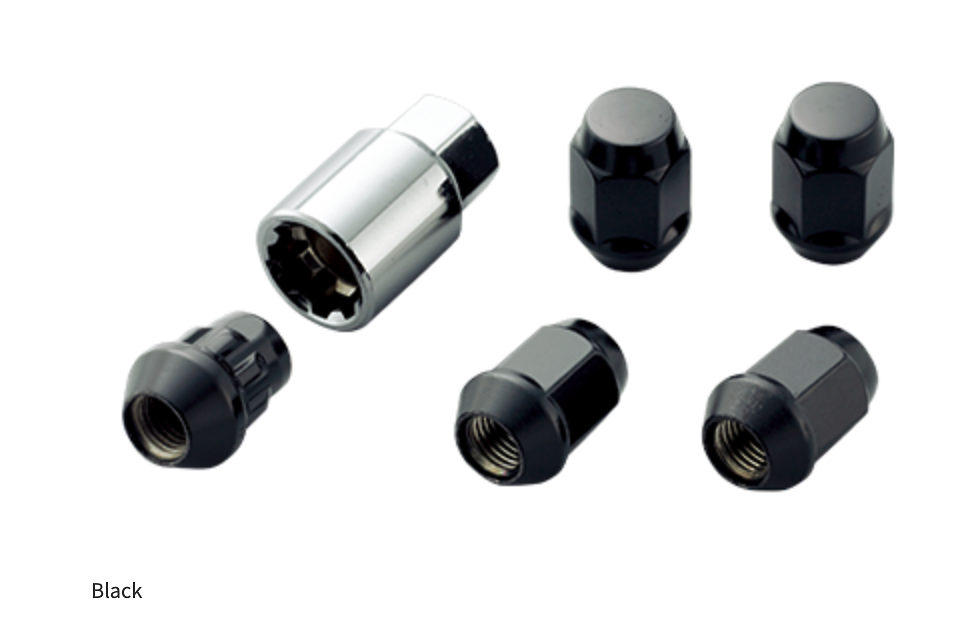 16 + 4 Locks - Colour: Black - Thread: M12 x P1.5 - 08181-MZ3-K0S0-BL