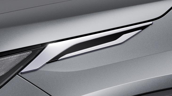 Cool Shine Kit: Front Grill Garnish + Headlamp Garnish + Backdoor Garnish - Construction: ABS - Colour: Black x Plating - D2020-60310