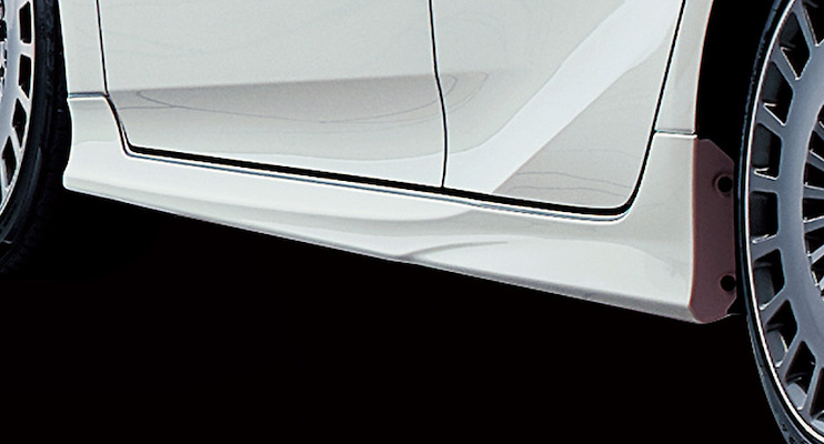 Side Skirts - Construction: PPE - Colour: Attitude Black Mica (218) ... C0 - Colour: White Pearl Crystal Shine (070) ... A1 - MS344-47006-##