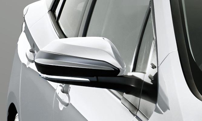 Aero Mirror Fins - Construction: ABS - Colour: Glossy Black (202) - MS329-47001