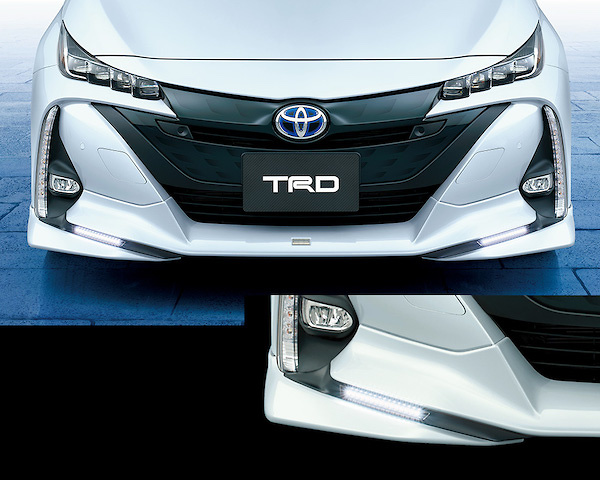 Front Spoiler (with LED) - Construction: PPE - Colour: Attitude Black Mica (218) ... C0 - Colour: White Pearl Crystal Shine (070) ... A1 - MS341-47015-##