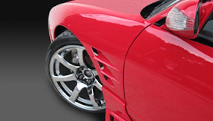 Front Fenders (+30mm) - Construction: FRP - Colour: Unpainted - GCOR-F180SXT1-FF