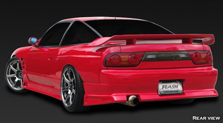 Rear Bumper Spoiler - Construction: FRP - Colour: Unpainted - GCOR-F180SXT1-RBS