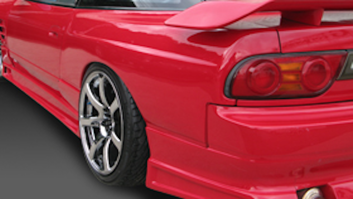 Rear Fenders (+50mm) - Construction: FRP - Colour: Unpainted - GCOR-F180SXT1-RF