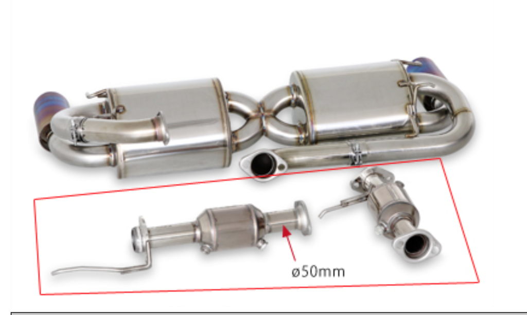 Circuit Catalyzer Set Only - Pieces: 1 - Pipe Size: 50mm - 18190-NA2-000