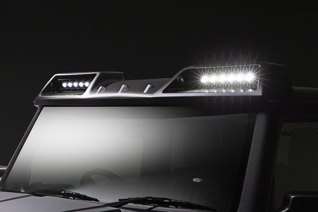 Front Roof Spoiler w/ LED Lamps - Construction: FRP - Colour: Unpainted - WALD-JSLBBE-FRS