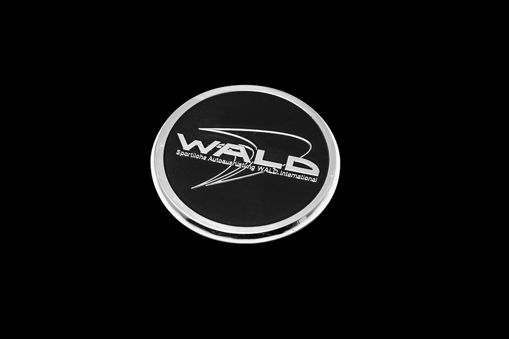 Metal Hood Badge (B Type) - Colour: Chrome/Black - WALD-JSLBBE-MHBB