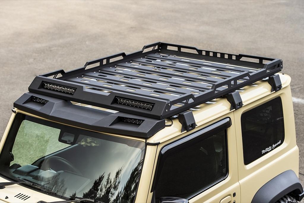 Roof Rack (set of 4 LED light bars) - Construction: Aluminum - Colour: Powder Paint Finish - AIM-MT8RR-JB74W
