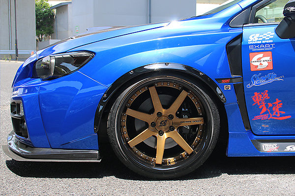 Front Wide Blister Fender +30mm Ea. - CahrgeSpeed Wide Body Kit Front Bumper ONLY - Construction: FRP - Colour: Unpainted - CS-FWBF30-VA