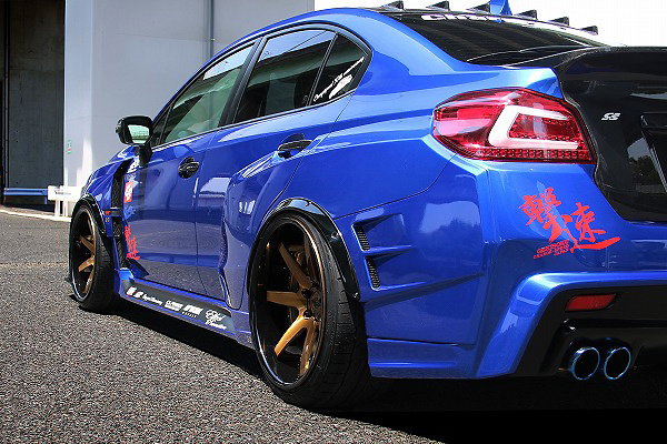 Rear Wide Blister Fender +30mm Ea. - CahrgeSpeed Wide Body Kit Rear Bumper + Side Skirts ONLY - Construction: FRP - Colour: Unpainted - CS-RWBF30-VA