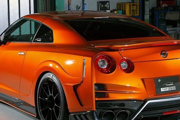 Top Secret - R35 Rear Spoiler Flat Type