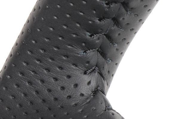 Type: Soft D Shape - Color: Black Wood - Stitch: Black - SZB-BKW-BK