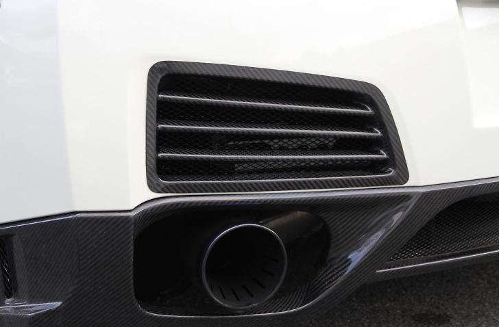 Carbon Rear Bumper Outlet - Construction: Carbon - KAN103
