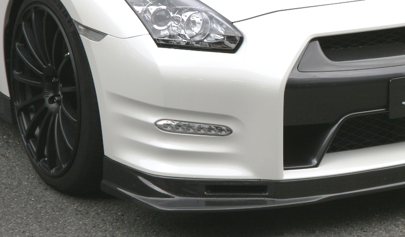 Carbon Front Lip and Brake Duct Set - Construction: Carbon - KAN092A