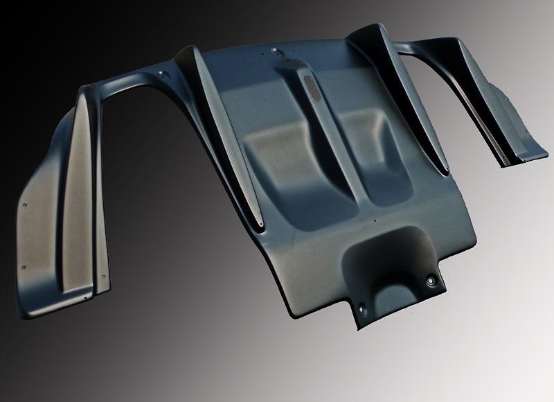 Type: Dual Exit (L+R) - Material: FRP - Colour: Matte Black - FEELS-FD2RMP-DMB