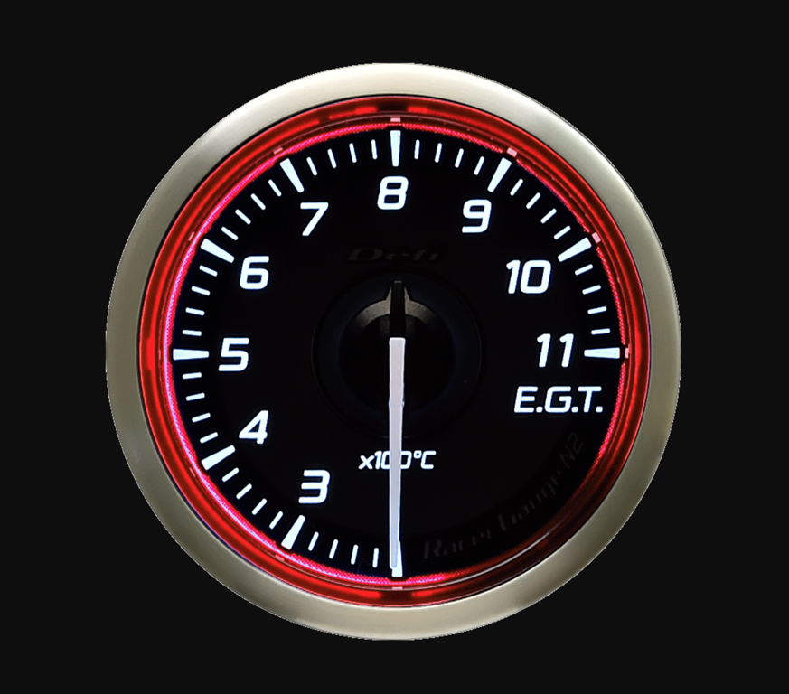 Type: Exhaust Temperature - Color: Red - Diameter: 60mm - Range: 200-1100C - DF17003