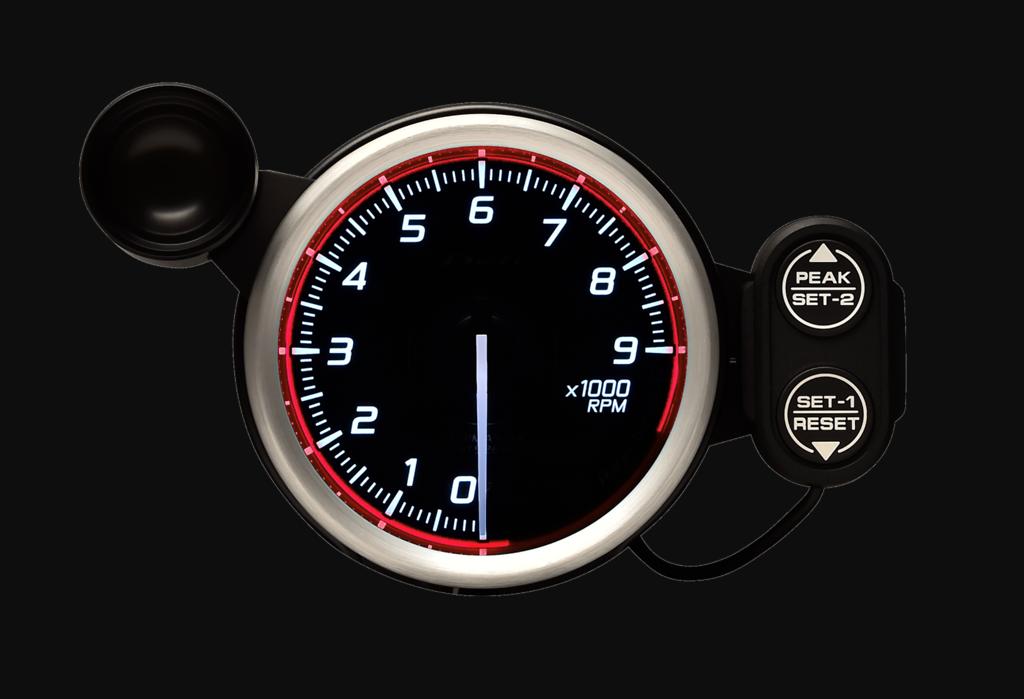Type: Tachometer - Color: Red - Diameter: 80mm - Range: 0 - 9,000RPM - DF17203