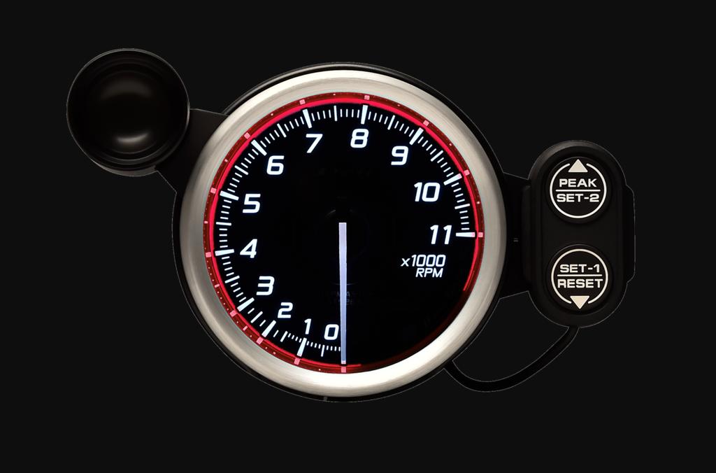 Type: Tachometer - Color: Red - Diameter: 80mm - Range: 0 - 11,000RPM - DF17303