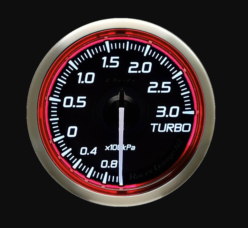 Type: Turbo - Color: Red - Diameter: 52mm - Range: -100kPa to 300kPa - DF16103