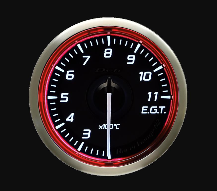 Type: Exhaust Temperature - Color: Red - Diameter: 52mm - Range: 200-1100C - DF16403