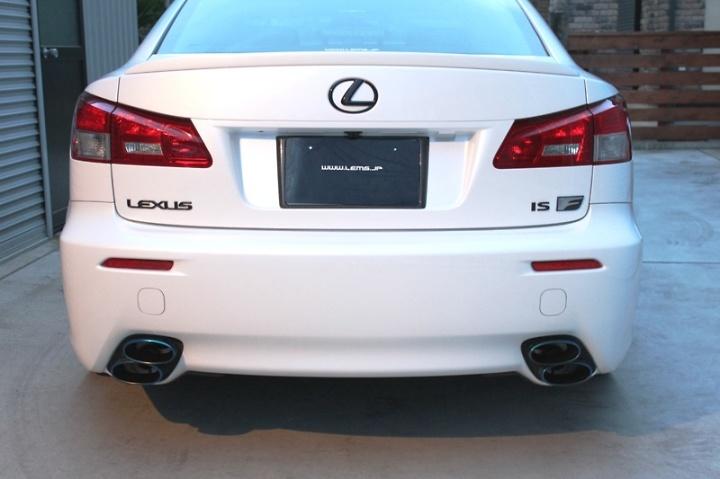 """Rear Set: Rear """"L"""" Mark, LEXUS and ISF - Colour: LEMS Black - LEMS-L71-RS"""