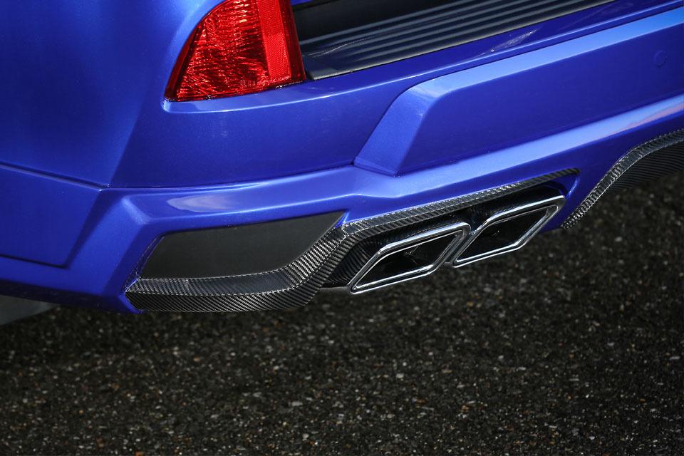 Rear Half Spoiler w/o Hitch Member - Construction: FRP+Carbon - Accent Color: Black Rubber Molding - Accent Color: Grey Rubber Molding - D8-FTLX570-RHSC