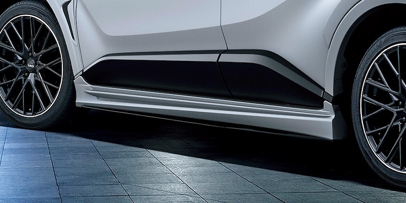 Side Skirts - Construction: Resin (PPE) - Colour: Black Mica (209)C0 - Colour: Metal Stream Metallic (1K0)B1 - Colour: White Pearl Crystal Shine (070)A0 - Colour: Yellow (5A3)F0 - MS344-10005-##