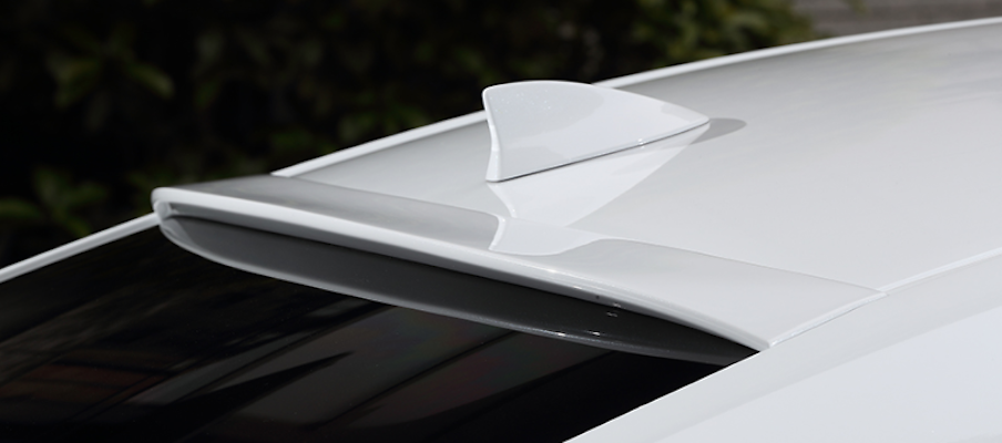 Rear Roof Spoiler - Construction: FRP - Colour: Unpainted - AS-SLBL-AXZH10-RSF