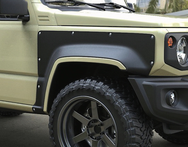 Material: FRP - Type: Front + Rear - Width: 90mm - Color: Unpainted - jimny74-e003