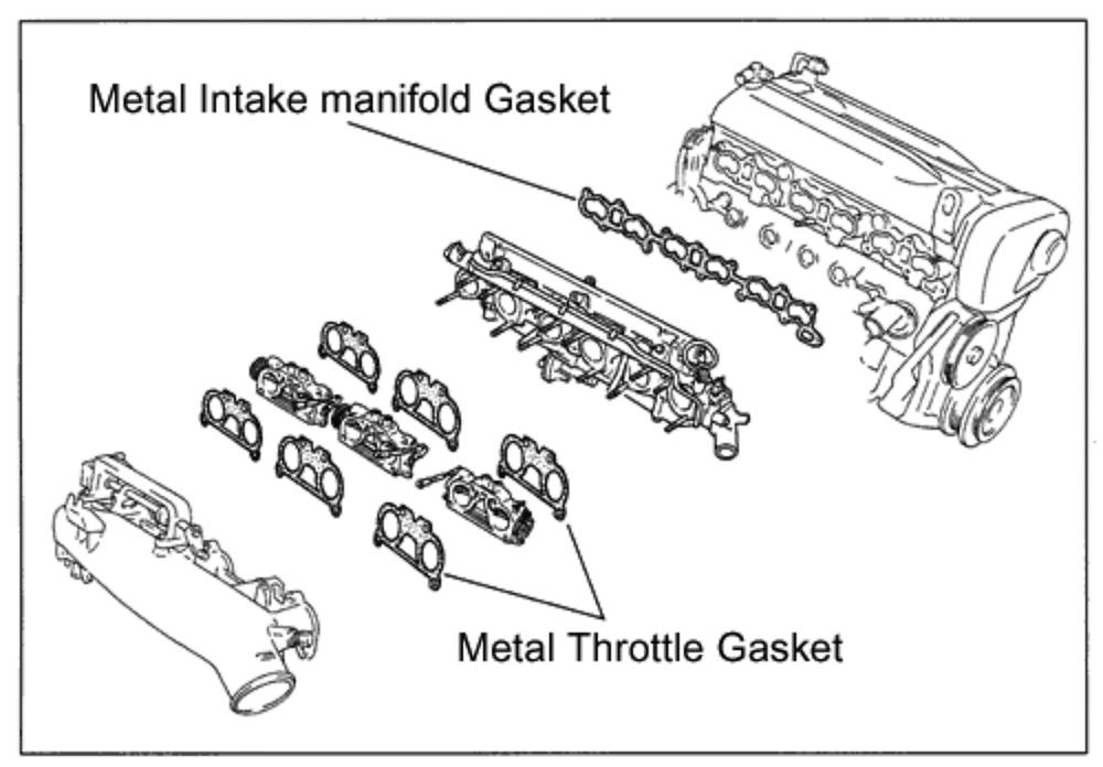 Type: Throttle Gasket Set of 6 - 133001