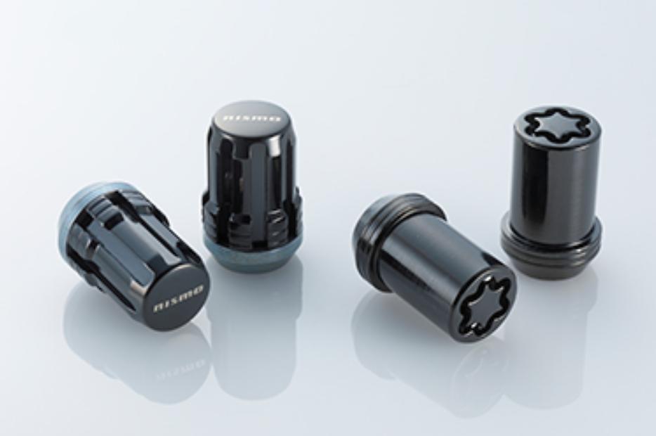 Colour: Black - Thread: M12x1.25 - Length: 31.5mm - Quantity: 16 Nuts + 4 Locks - 40220-RN850