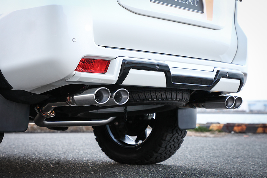 Double Eight - Dual Twin Oval Muffler for Prado 150