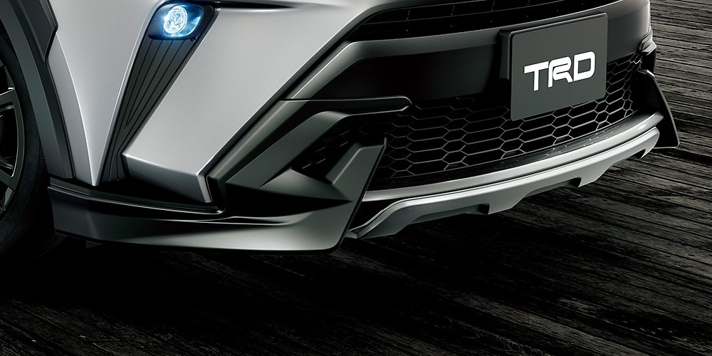 Front Spoiler - For vehicles with PVM - Construction: Resin (PPE) - Colour: Matte Black + Metallic Silver - MS341-10010