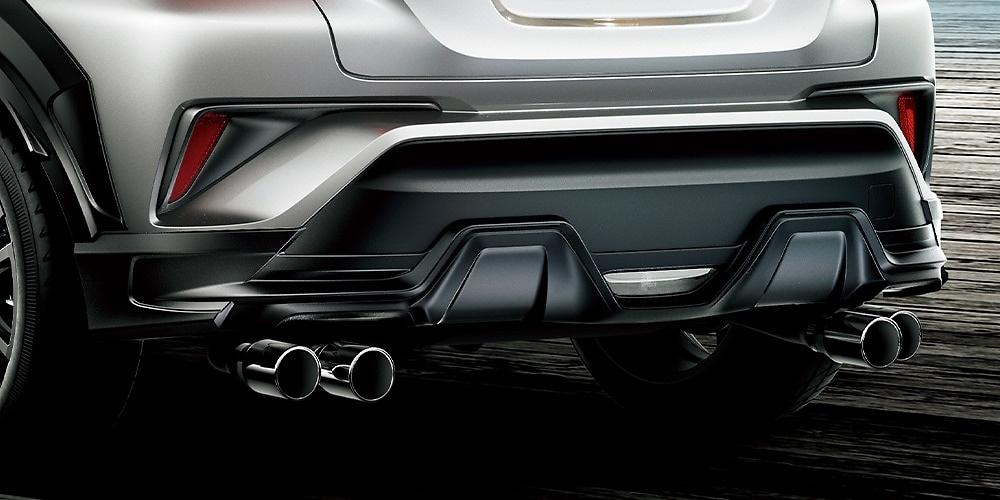 Rear Bumper Spoiler - For vehicles with ICS - Construction: Resin (PPE) - Colour: Matte Black - MS343-10003